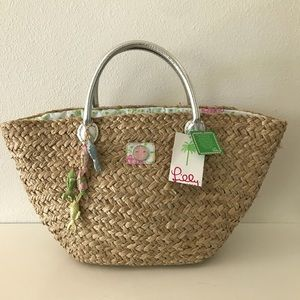 Lilly Pulitzer The Bardot Beach Straw Tote
